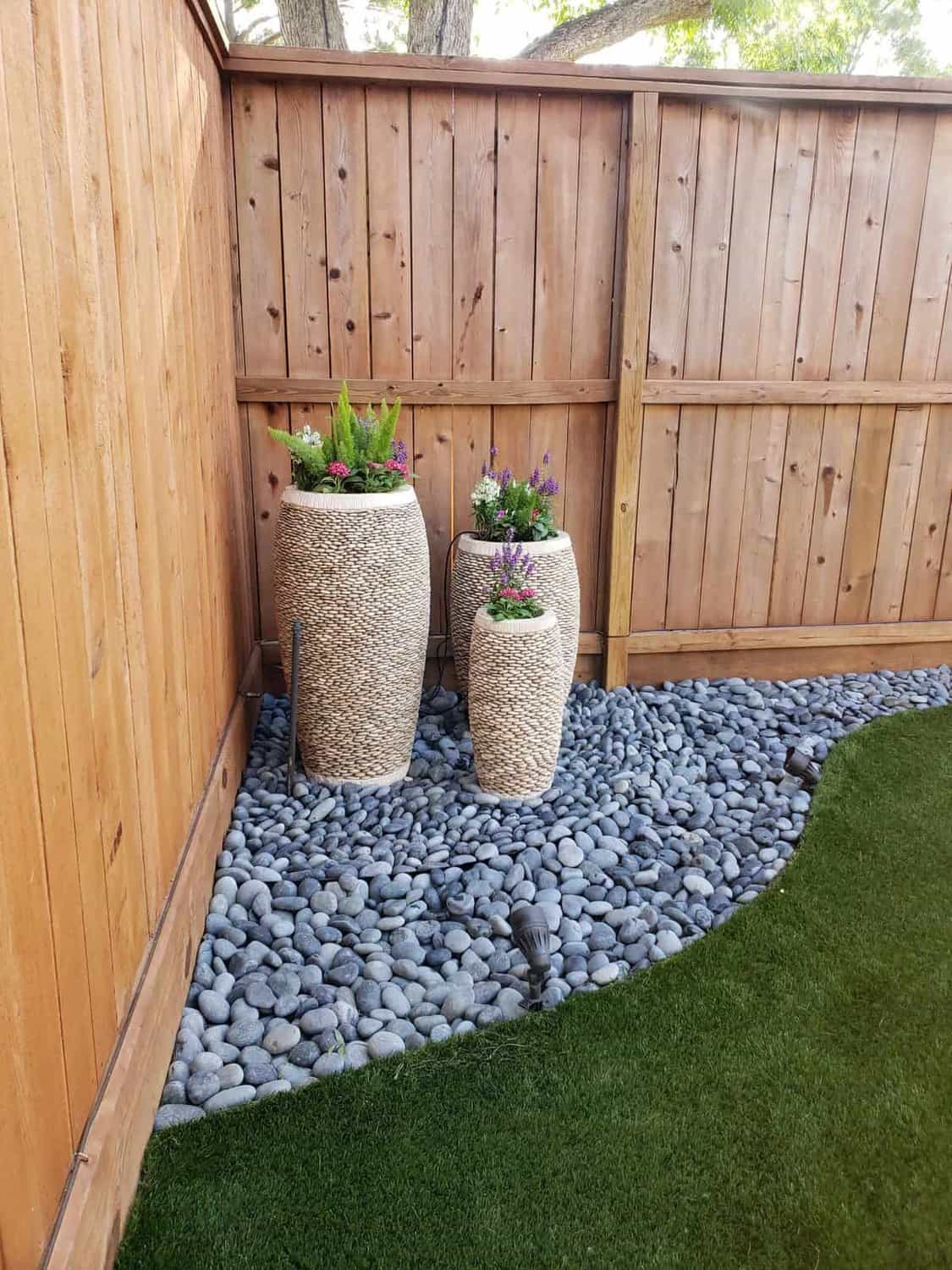 landscape corner synthetic grass