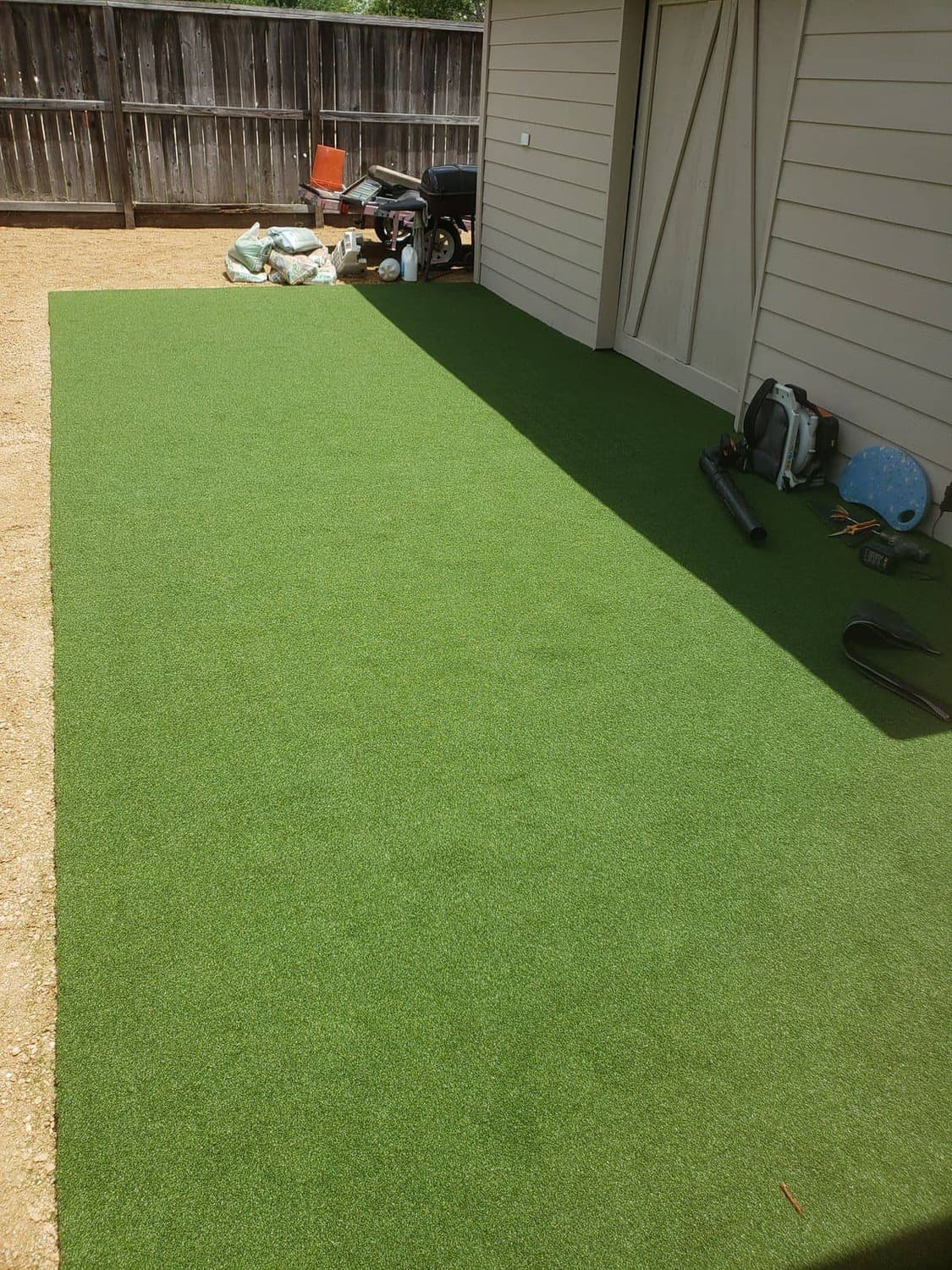 helms professional backyard synthetic grass