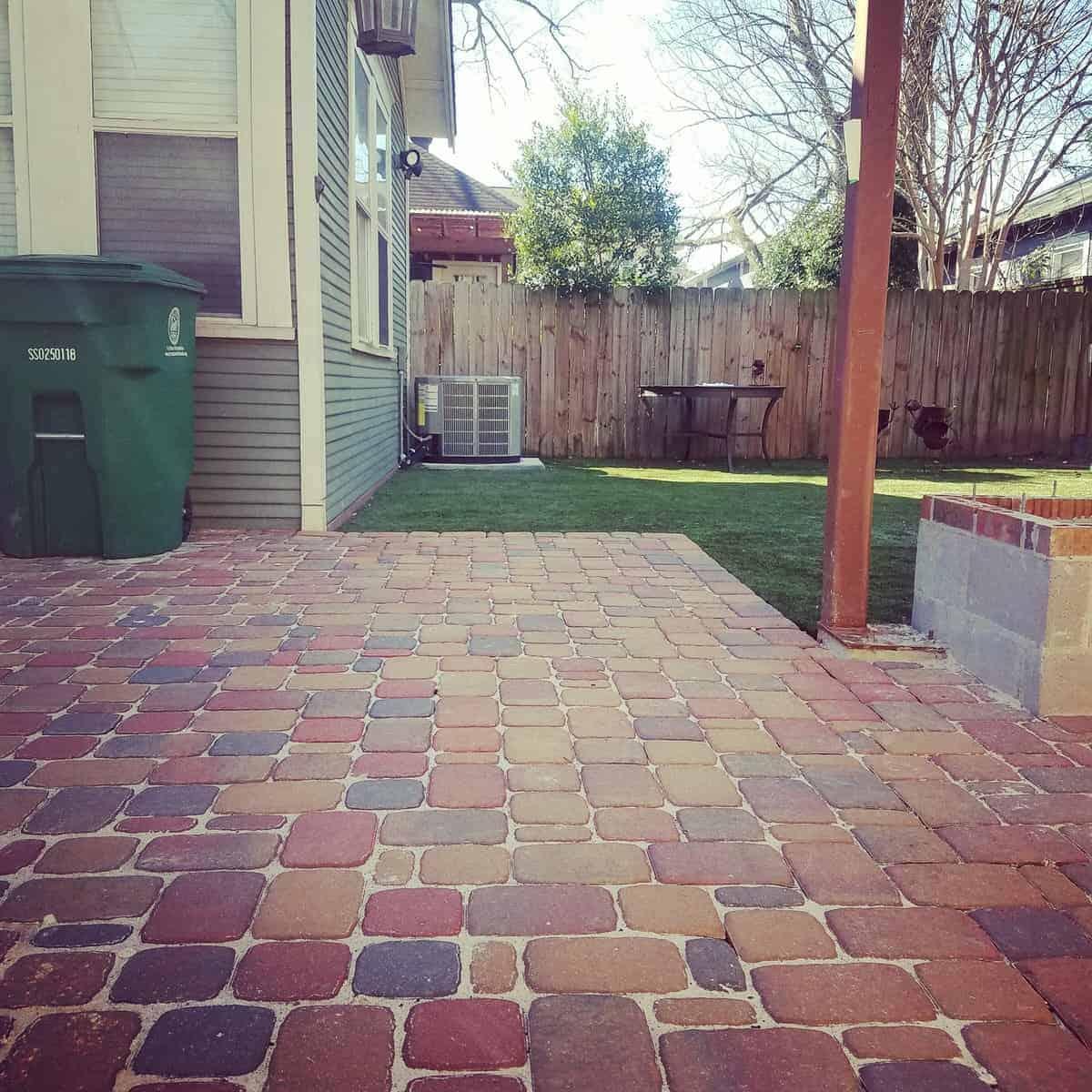 Backyard custom paver