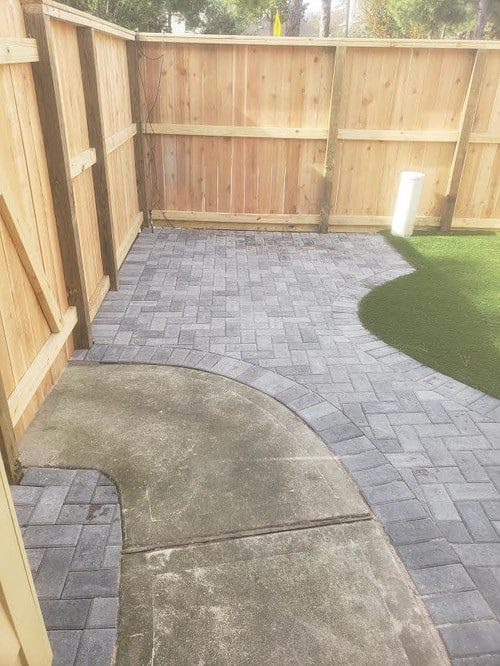professional paver installation by Helms Landscape