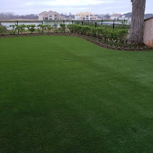 affordable synthetic landscaping installation by Helms Landscape