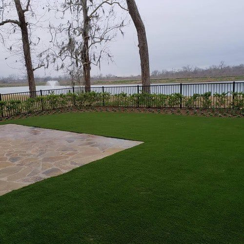 synthetic landscaping installation by Helms Landscape
