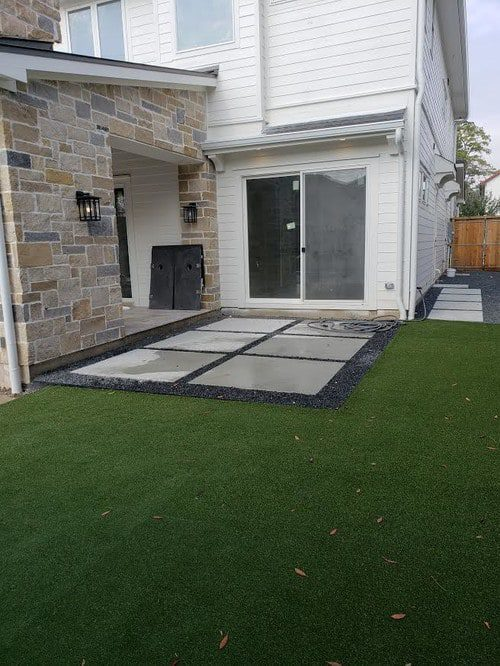 professional synthetic lawn installation by Helms Landscape