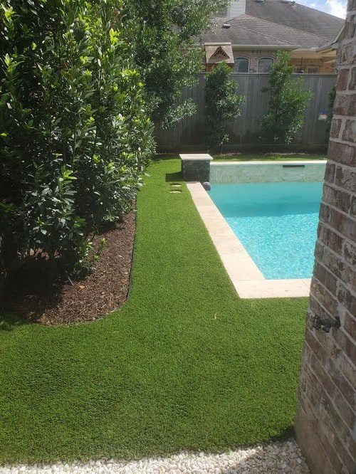 the very best synthetic lawn installation by Helms Landscape