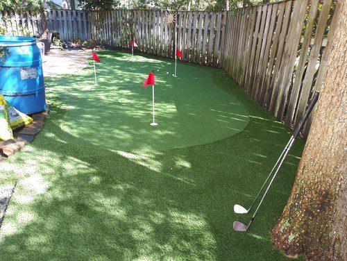 putting greens installation by Helms Landscape