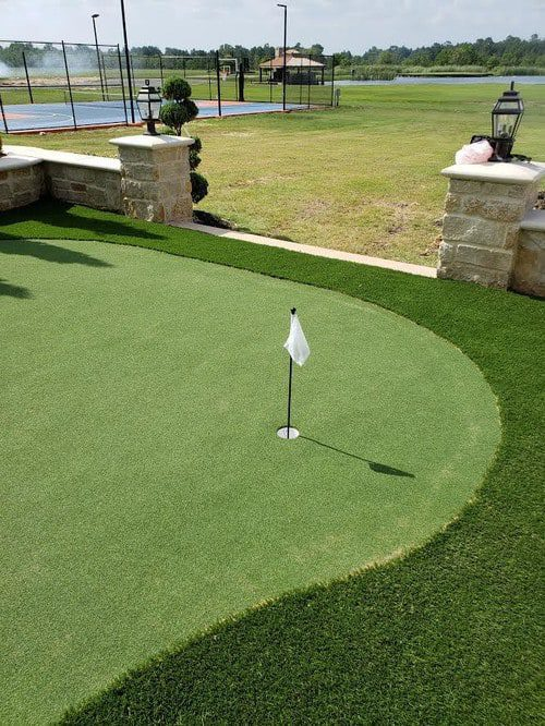 professional putting greens installation by Helms Landscape