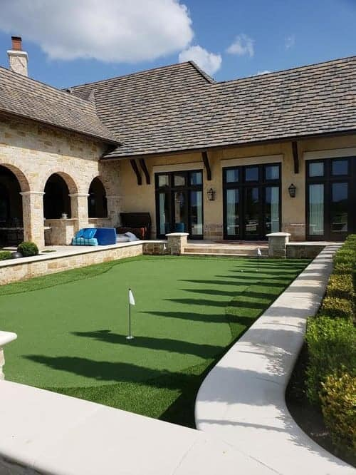 affordable putting greens installation by Helms Landscape