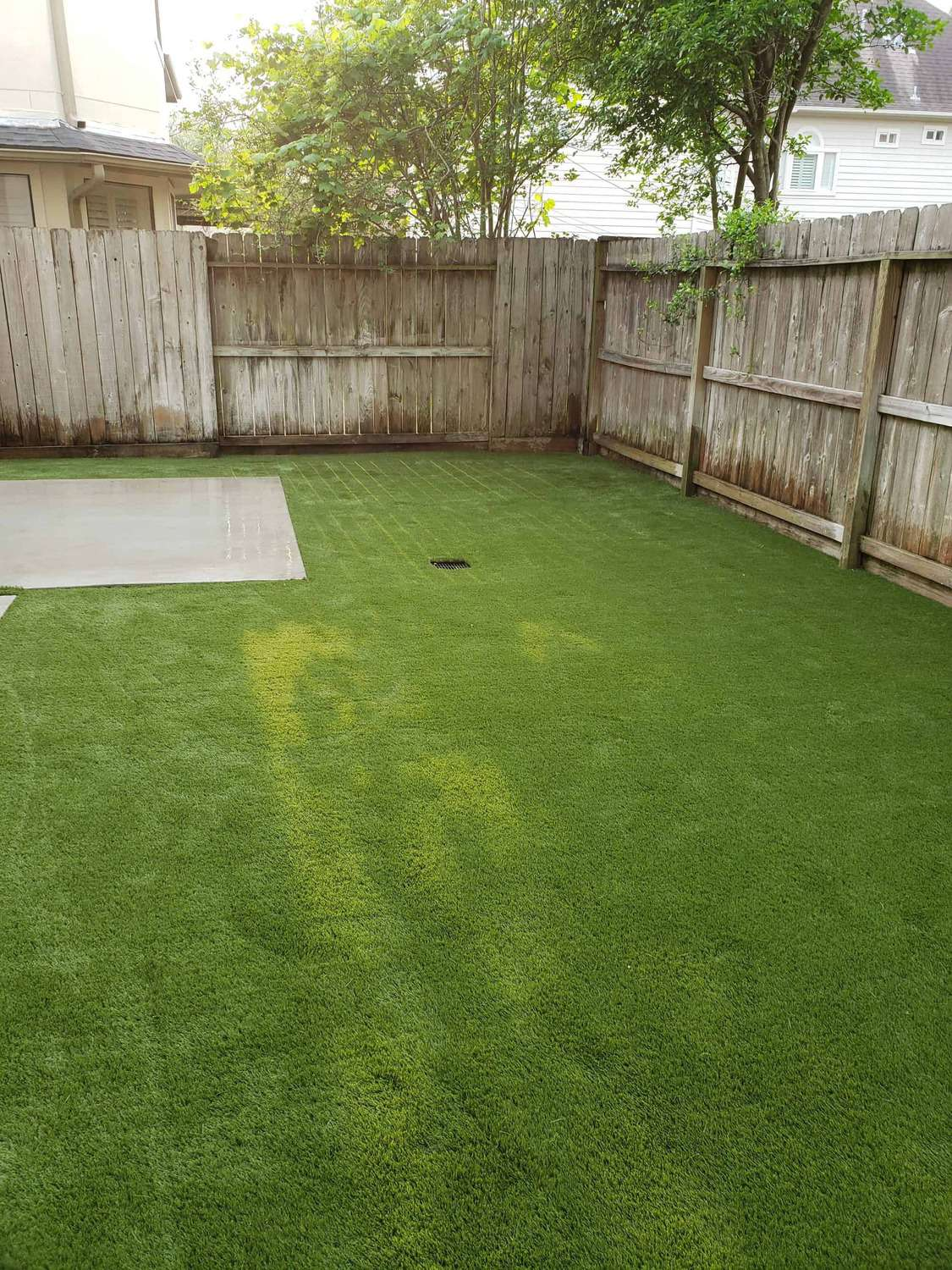synthetic pet run professionally installed by Helms Landscaping in Houston Texas
